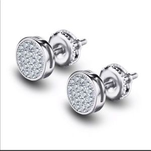 Other - 14k White Gold Over 925 Sterling Silver Earrings
